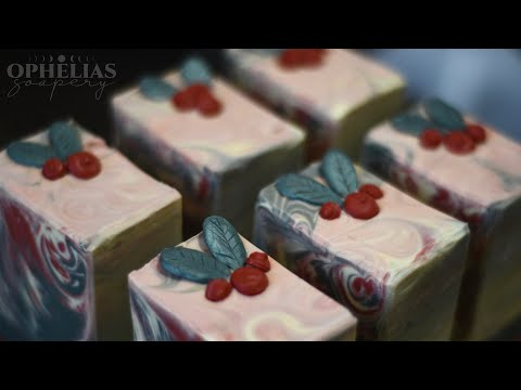 Lingonberry Spice Homemade Soap from the Bramble Berry Hygge Fragrance Oil Collection