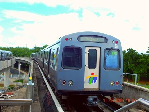 "🚇 / 💺 Tren Urbano (San Juan, Puerto Rico) to Bayamón & ""Return Trip""... FULL RIDE!"