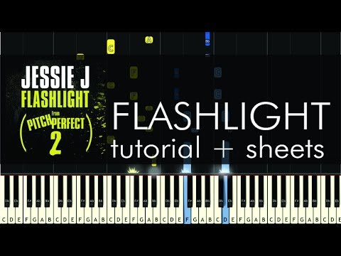 Jessie J - Flashlight - Piano Tutorial - How to Play + Sheets