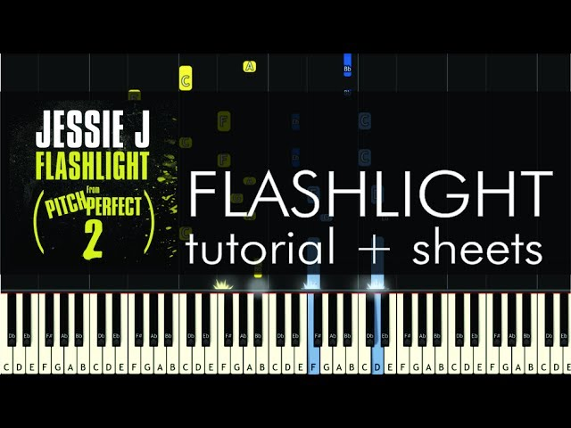 Jessie J - Flashlight - Piano Tutorial - How to Play + Sheets Chords ...