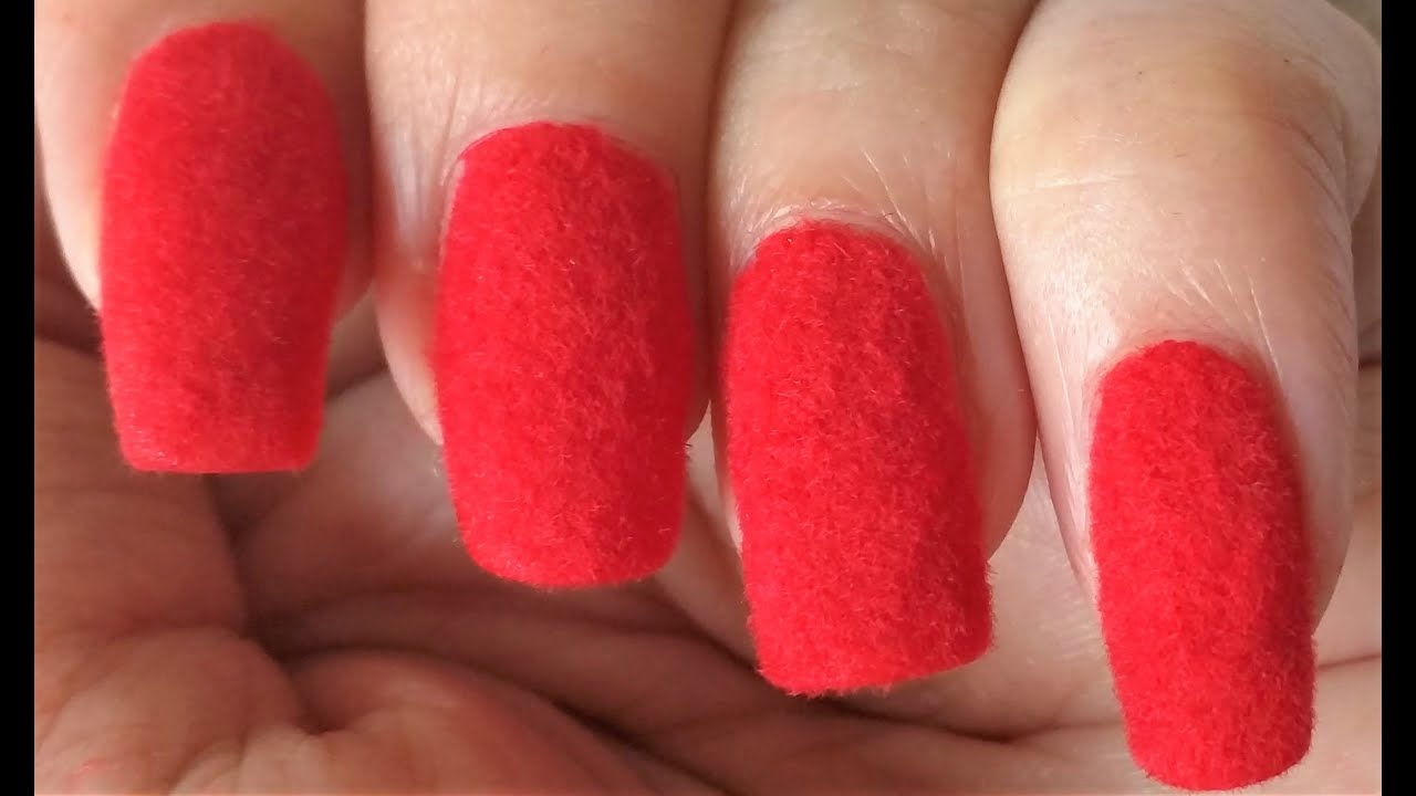 Red Velvet nail art | ARS Arts | Easy Flocking Nails at ...