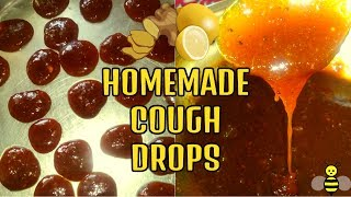 homemade cough drops(ginger lemon honey cough drops)