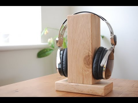 Reclaimed Oak Wood Headphone Stand Build