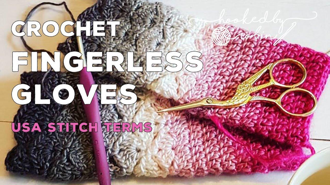 Crochet Tutorial Fantail Shell Stitch Fingerless Gloves Free