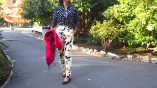 OOTD - polka dots and color splash pants in Sacramento