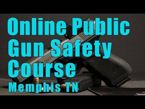 Online Public Gun Safety Course-Online Public Handgun Safety Class-Gun Safety Training-Memphis Tn
