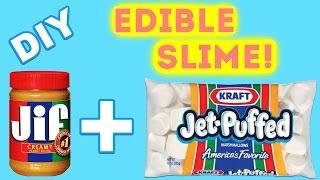DIY Peanut Butter Marshmallow Slime! | DIY Edible Slime