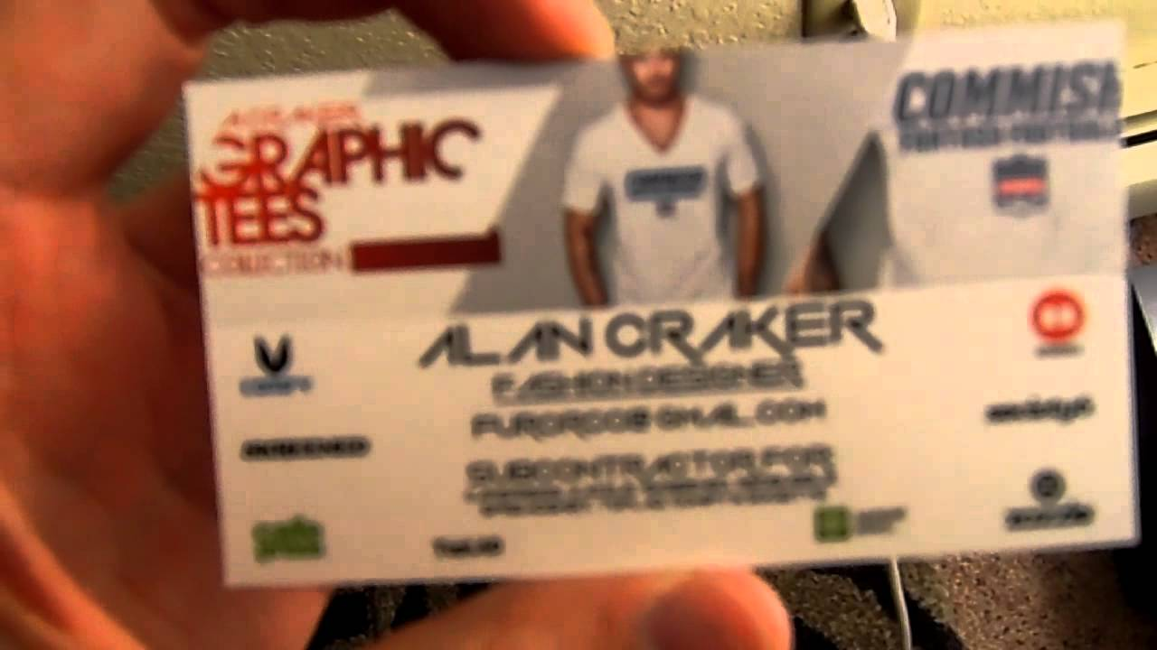 VistaPrint Double Sided Glossy Business Card Review - YouTube