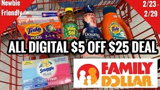 Family Dollar | NEW $5 OFF $25 Coupon | ALL DIGITAL | EASIEST LOW OOP DEAL!