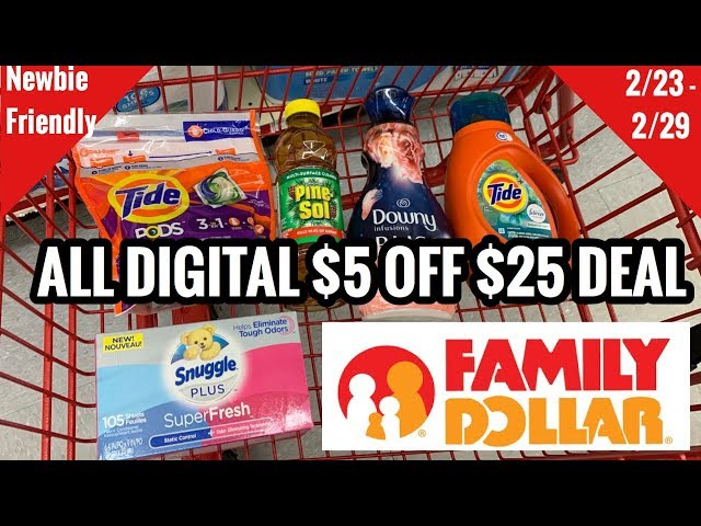 Family Dollar | NEW $5 OFF $25 Coupon | ALL DIGITAL | EASIEST LOW OOP DEAL! ????????