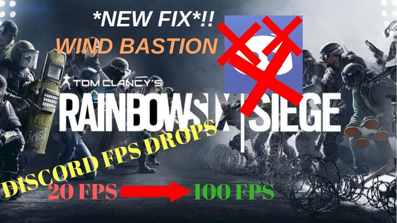 How to fix discord FPS lag | Rainbow Six Siege Wind Bastion
