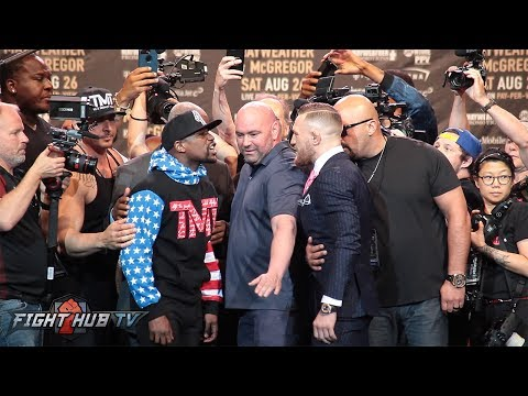 Thumbnail: FACE TO FACE! MAYWEATHER & MCGREGOR GO AT IT IN SECOND FACE OFF!