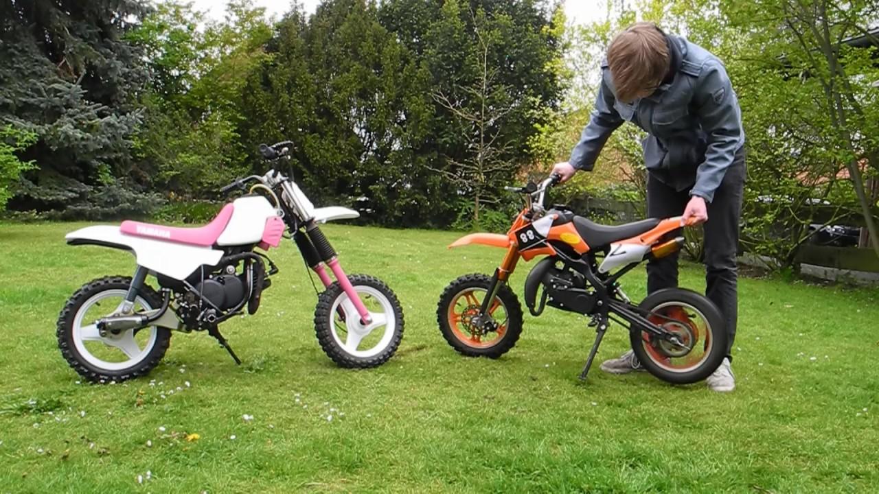 pocket bike  yamaha pw die wichtigsten unterschiede
