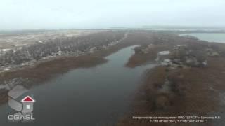 Аерозйомка Коров'єв острова поблизу села Тетеево