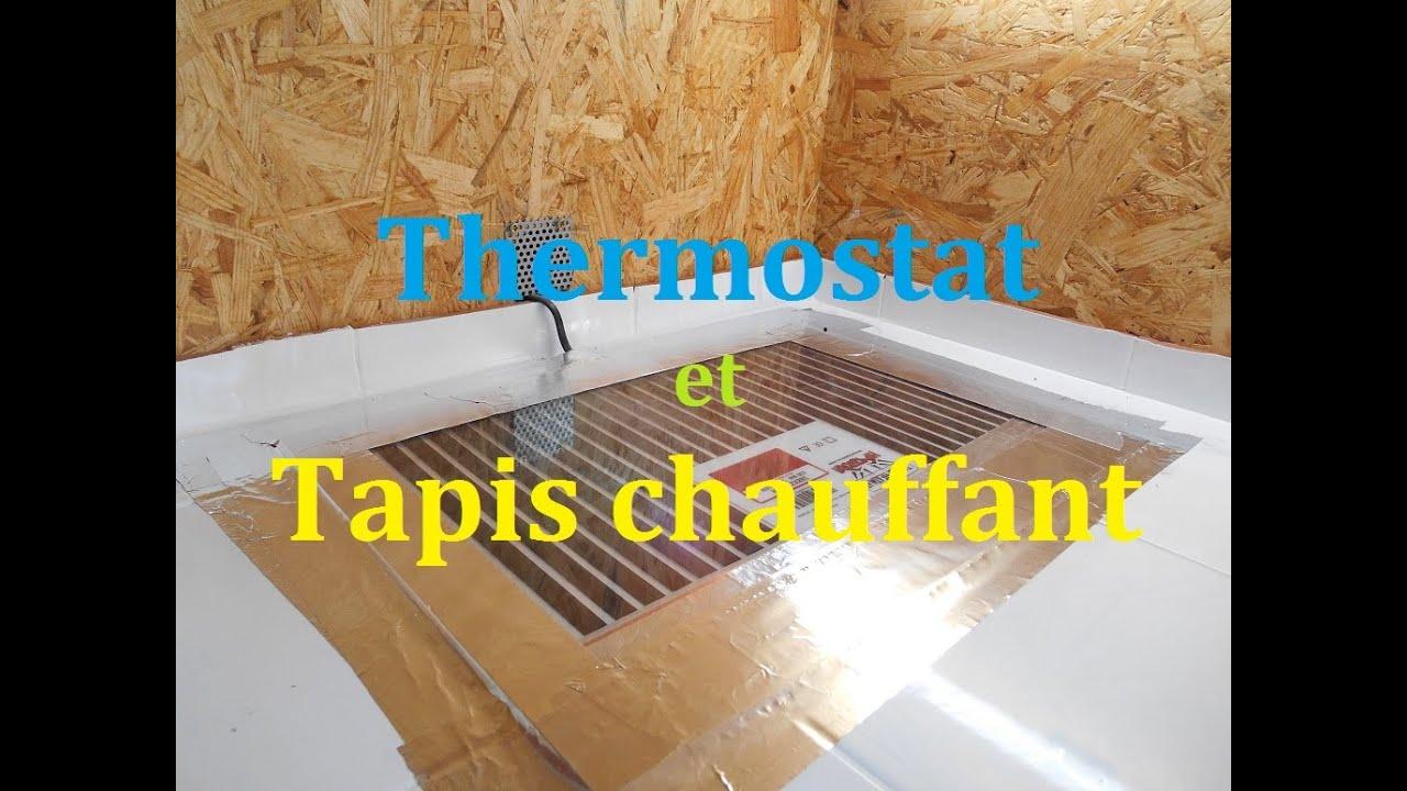 tuto thermostat et tapis chauffant pour terrarium serpent ou reptile