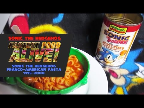 Fastest Food Alive – Sonic the Hedgehog Franco-American Pasta 1995-2000