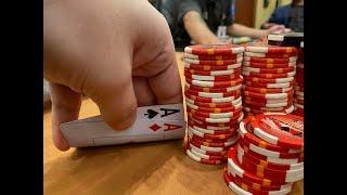 POCKET ACES IN A STRADDLED POT - Kyle Fischl Poker Vlog