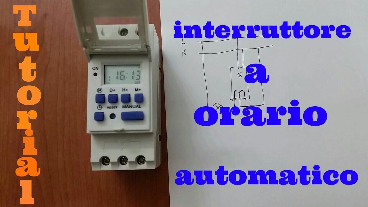 Schema Elettrico Per Temporizzatore : Interruttore a orario automatico youtube
