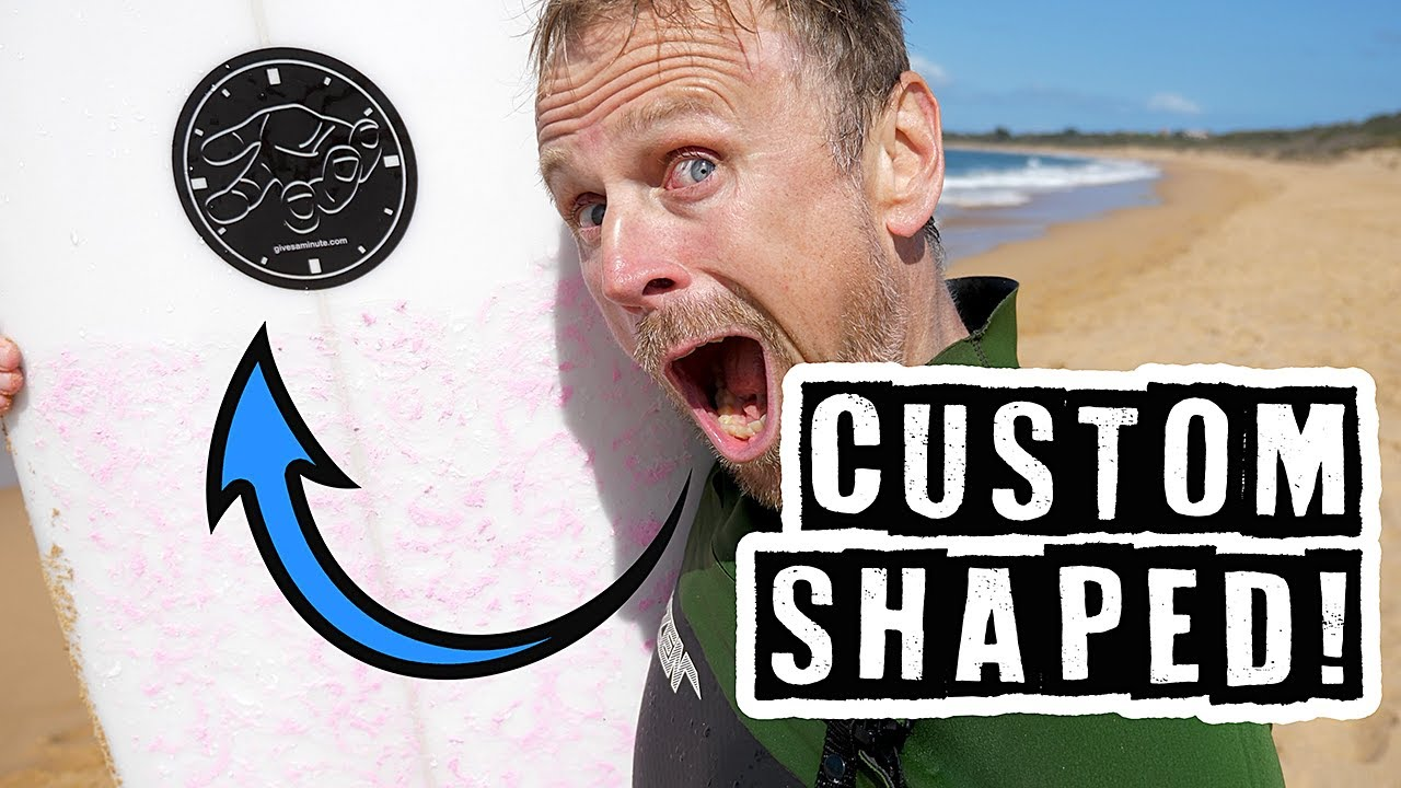 Surfing A Custom Shaped Board For The First Time
