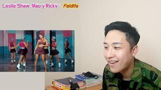Leslie Shaw, Mau Y Ricky  Faldita Reaccion