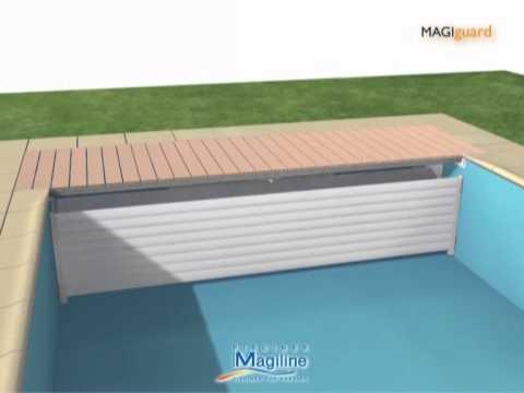 Volet magiguard piscines magiline youtube for Piscine magiline