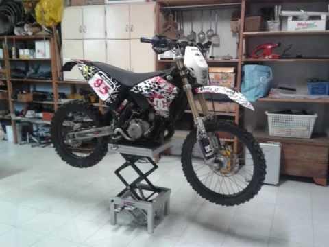 sollevatore idraulico moto hand made d lla offroad d m