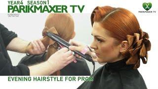 Эксклюзивная вечерняя прическа. Evening hairstyle for prom парикмахер тв parikmaxer.tv