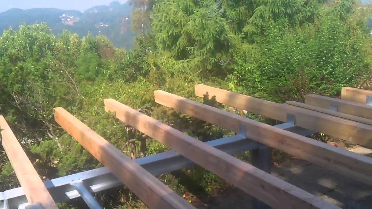 unterkonstruktion holzbelag terrasse - youtube