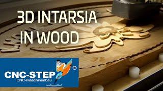 Milling 3d wooden intarsia