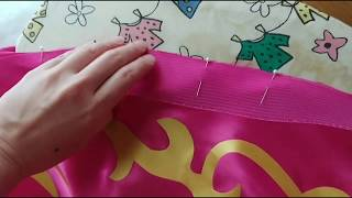 Gambar cover How to sew horsehair braid hem with lining (NO hand sewing)