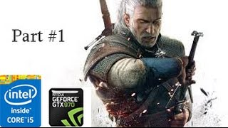 Witcher 3 Gameplay PC Max Settings 60fps - Part 1 GTX 970
