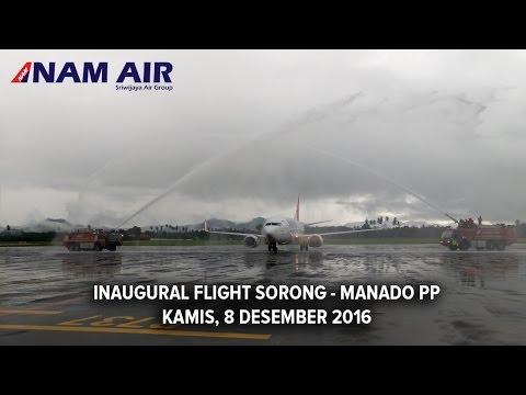 Inaugural Flight NAM Air Sorong - Manado