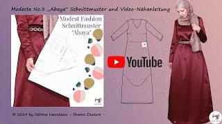 Abendkleid 📌Abaya DIY📌Kaftan nähen Modeste No.3 Näh- Anleitung Tutorial Modest Fashion Schnittmuster