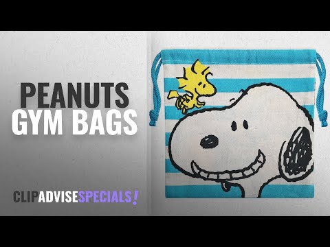 Featured Peanuts Gym Bags [2018]: Peanuts Snoopy Drawstring Bag Border SNKN2008