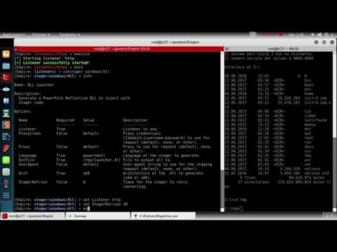 wpa2 crack with Aircrack & RCE with FuzzBunch & lateral movement, persistence with powershell empire
