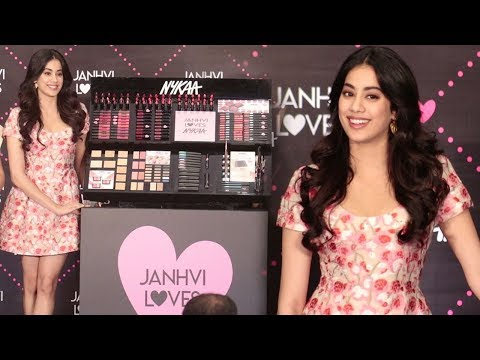 Jhanvi Kapoor Looks Stunning Without Make Up At Her First Tv Ad Nykaa Cosmetics Launch