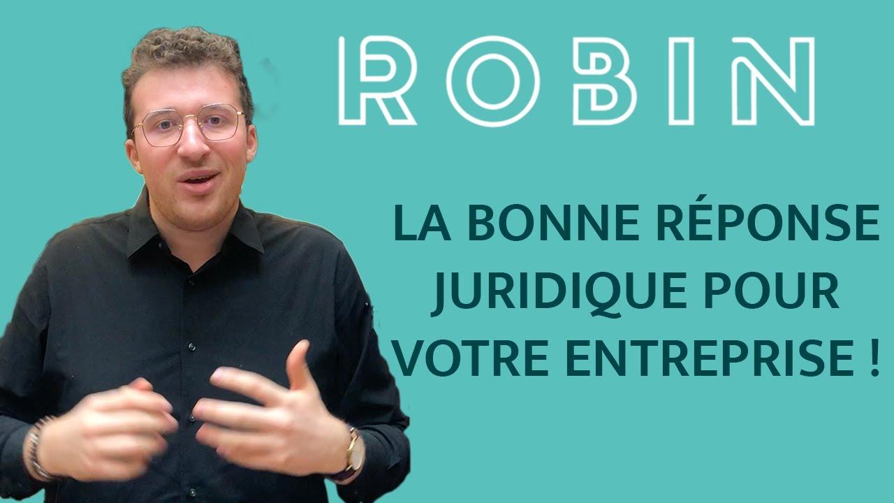 Robin.fr :  le directeur juridique digital des entreprises disponible 7j/7