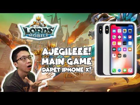 AJEGILEE! Main Game Dapet Iphone X GUYSS! Akhirnya Castleku Level 15! - Lords Mobile Indonesia