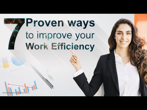 7 Proven Ways to improve work efficiency & productivity 2020
