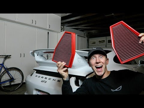 DOES THE BMC AIR FILTER GIVE MORE HORSEPOWER? INTAKE FILTER INSTALL ON PORSCHE GT3
