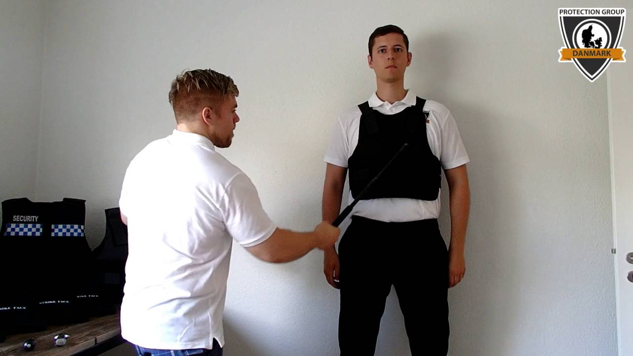 Stab proof vest NIJ level 1 tested with baton, knife and
