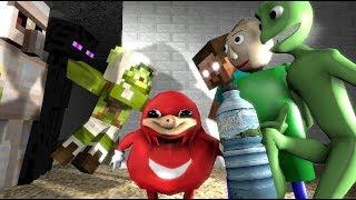 Monster School : DAME TU COSITA ALIEN BATTLE  BALDI'S BASICS CHALLENGE - Minecraft Animation