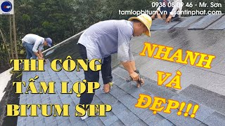 Tấm lợp bitum STP | Mái lợp phủ đá cho nhà mái Thái lung linh