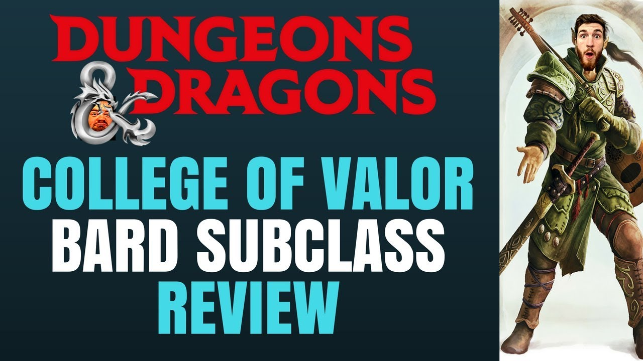 Bard College of Valor - D&D 5e Subclass Series
