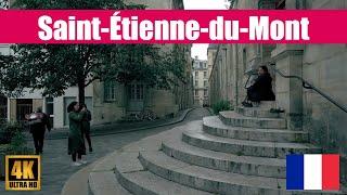 【4K】Paris Saint-Étienne-du-Mont and Place de l'Abbé Basset Walking Tour