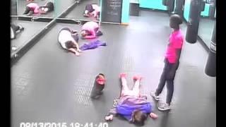 CCTV Footage - Hardcore Gym Instructors :)