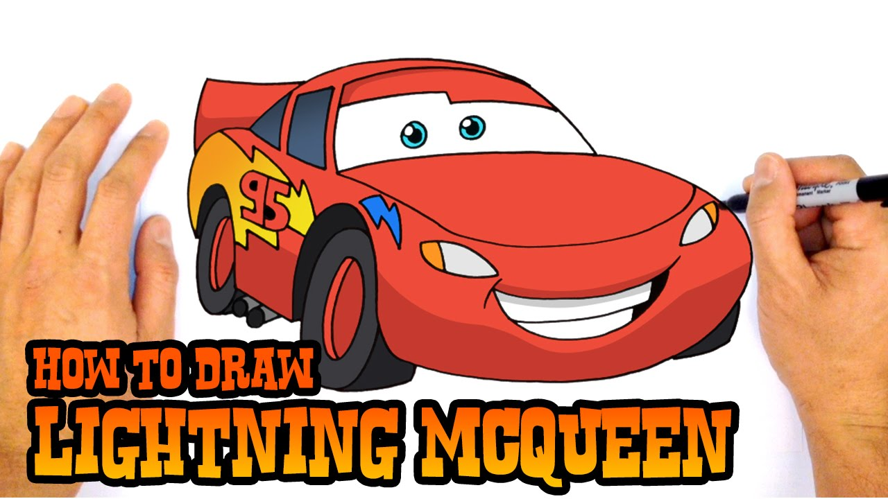 How to Draw Lightning McQueen | Cars 3 - YouTube