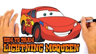 How to Draw Lightning McQueen | Cars 3