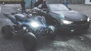 MY BMW M4 VS MY QUAD BIKE *YAMAHA RAPTOR 700*