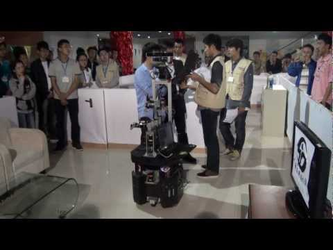 Kejia Robot General Purporse Service Robot Test at China Service Robot Competition 2012